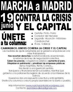 Información sobre la manifestación del 19J de Madrid